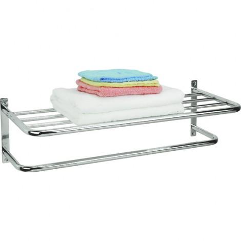 Estante y toallero de acero cromado lakki - Toallero cromado para bano ...