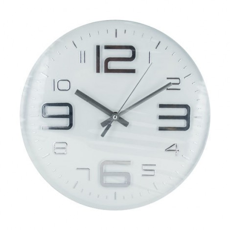 Atlantic Corner - RELOJ DE PARED METÁLICO BLANCO / PLATA